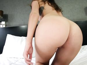 Teen Porn Audition With An Oiled Up Girl Fucked In POV