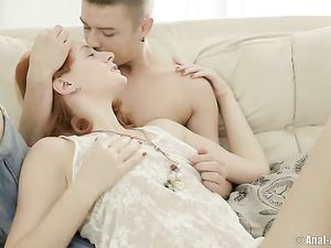Redhead Teen Toyed And Fucked Up Her Slutty Ass