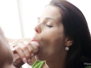 Astonishing Blowjob From A Pretty Brown Eyed Teen