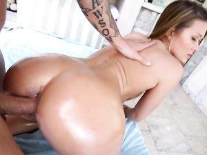 Big Ass Girl In A Shiny Bikini Fucks The Stud