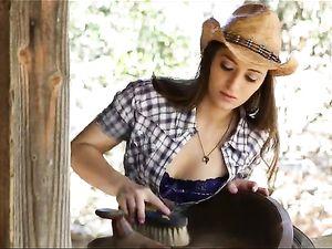 Fucking A Horny Farmers Daughter Like She Needs