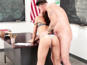 Schoolgirl In Knee Highs Fucks Her Horny Teacher