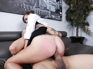 Facial For The Office Slut That Worships Big Dick