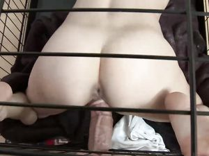 Skinny Slave Girl In A Cage Fucked Hardcore