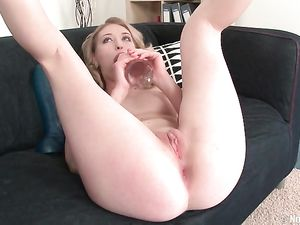 Fashionable Teen Beauty Fucks Her Huge Dildos