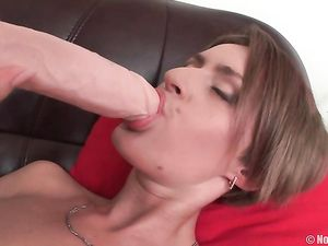 Teen Plays With Her Sexy D Cups With Soft Hands
