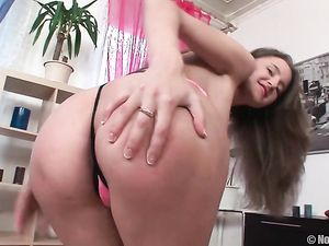 Teen Fondling Her Perky Boobs And Toying Her Holes