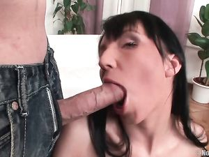 Stiff Dick Slides Into Her Smooth Teen Asshole