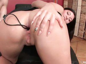 Short Skirt Teen Takes A Sex Toy Up The Ass
