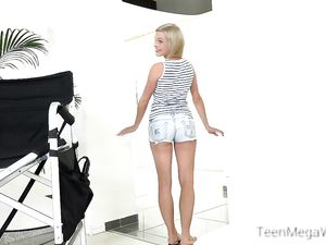 First Porn Video With A Flexible And Slutty Blonde