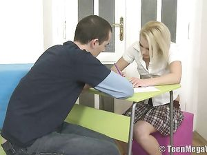 Licking Schoolgirl Pussy And Fucking That Hot Honey