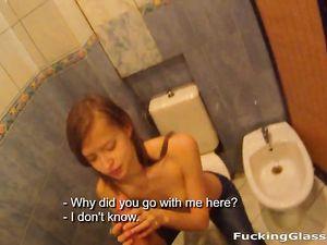 Teen Blows You In The Bathroom Like A Slut