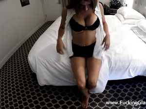 Big Tits Girl Riding Dick In A Hotel Room