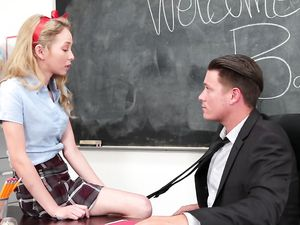 Teachers Pet Seduces Him And Takes A Facial
