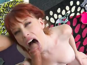 Pale Redhead With Spectacular Tits Fucked Hardcore