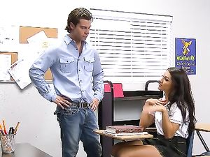 Sexy Student In Knee Highs Fucks Her Horny Teacher