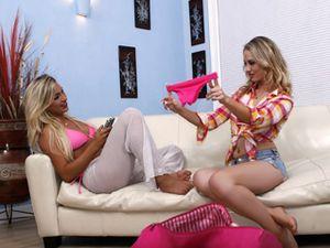 Curvy Lesbian Bikini Babe And Her Blonde GF Fucking