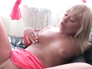 Blonde Cutie In A Sexy Dress Gets Fucked Hard