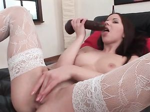 Sexy Stockings On A Sultry Toy Fucking Teenager