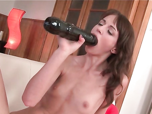 Petite Girl Has A Great Time With These Huge Toys