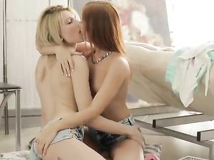 Teens Find A Dildo And Decide To Have Hot Lesbian Sex