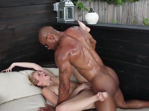 Interracial Fucking And A Facial For A Hot Blonde