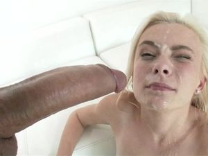 Messy Facial For A Pretty Blonde Princess