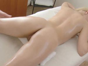 Fucking A Horny Blonde Beauty After Her Massage
