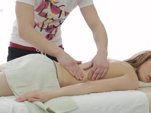 Passionate Lovemaking With A Babe After A Massage
