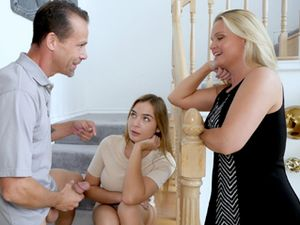 18 Y.O. Hot Stepdaughter Takes Initiative & Fucks Her Stepdad
