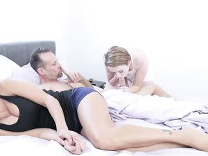 My Mom's New Boyfriend Has A Big Cock And I want It In My Pussy!