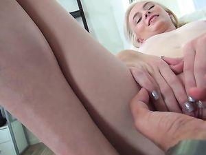 Big Messy Facial For A Tiny Pornstar Slut