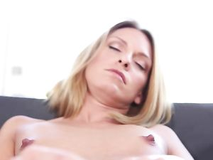 Cock And Creampie For A Cute Blonde Cougar