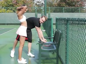 Tennis Tease Katalina Mills Fucked By Her Instructor