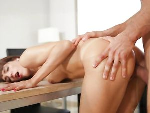 Intensely Passionate Sex With A Skinny Beauty
