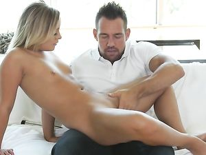 Blown By A Petite Blonde That Loves His Cock