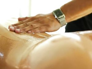 Massage Table Lovemaking With A Beautiful Young Lady