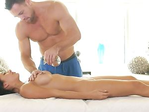 Massage Foreplay Drives A Couple Wild For Hot Sex By Porn Pros