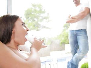 Erotic Sex With Alexis Brill Gives Him An Orgasm
