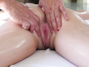 Finger Fucked Massage Beauty Wants Big Cock Too