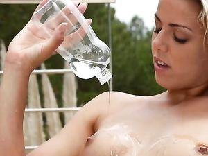Tease Takes Off Her Bikini And Takes An Ass Fucking