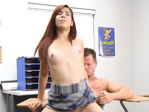 Leah Cortez Blows Her Teacher To Get An A