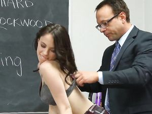 Teacher Has A Big Facial For The Cute Schoolgirl