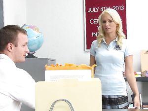 Bleach Blonde Schoolgirl Cutie Emily Austin Fucks Hard
