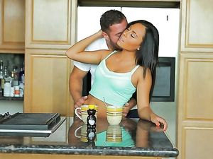 Sucking Yummy Honey Off Her Perky Natural Tits