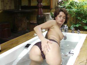 Masturbating On Vacation In The Lovely Bathtub