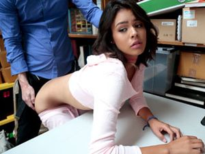 Back Office Fuck Of A Shoplifting Cutie