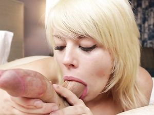 Blonde Teen Has The Hottest Dick Sucking Lips