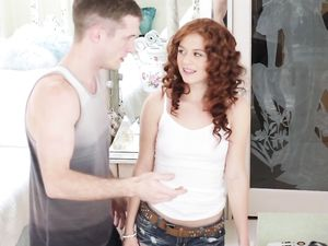 Curly Red Hair On Hardcore Teen Cutie Alice Green