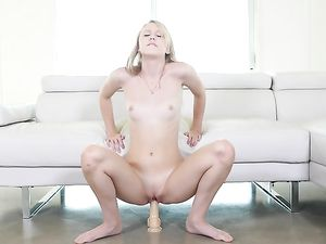 Toyed Teenage Blonde Is Ready For Doggystyle Fucking